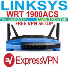 EXPRESS VPN - LINKSYS WRT1900ACS GIGABIT - ROUTER-FAST- VPN- FREE SETUP