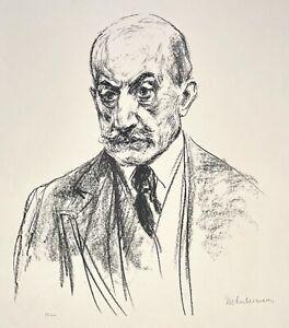 Max Liebermann. Selbstporträt. Lithographie, 1921. 1/100 Ex. signiert.
