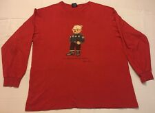 Polo Ralph Lauren Long Sleeve Crew Neck T-shirt Polo Bear Winter Bear Men Xl/xxl