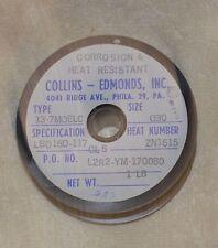 Welding Wire) (COLLINS-EDMONDS,Inc) 13-7 moelc  size 030