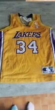 Shaquille O'Neal 34 Los Angeles Lakers NBA basketball jersey Champion size M kid