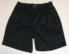 34 Mens Ocean Pacific Menswear Pleated Casual Shorts Black 100% Polyester EUC