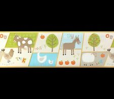 Childrens / Nursery *Peel & Stick* Farm Animals Wallpaper Border (DLB07531T)