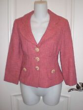 NANETTE LEPORE PINK TWEED JACKET~6~Wonderful