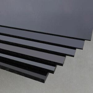 Black ABS Plastic Sheet Board DIY Model Craft 200x250mm 1/1.5/2/3/4/5mm Thick