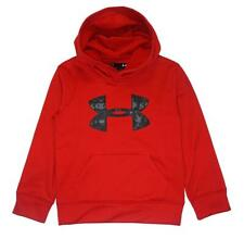 Under Armour Boys Red & Black Big Logo Pull-Over Hoodie Size 5
