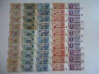 1961 USSR Russian 1,3,5,10,25 rubles SET (50 pcs) old paper money