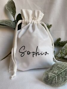 Personalised White Bag - Wedding Favour, Bride Bridesmaid Groom Gift Present