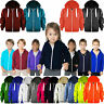 Babies & Kids Girls & Boys Unisex Plain Fleece Zip Up Hoodie Long Sleeve Jacket