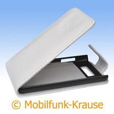 Flip Case Etui Handytasche Tasche Hülle f. LG P700 Optimus L7 (Weiß)