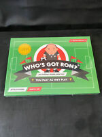 WHO'S GOT RON INTERACTIVE FOOTBALL VERSION BOARD GAME - AGE 8-80 - SEALED