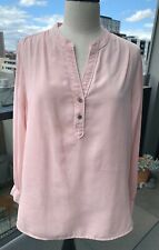 Marks & Spencer UK M&S Collection Pink Pop Over Top Shirt - Size 16 RRP $60 NEW