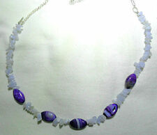 Oval Agate Strand/String Costume Necklaces & Pendants