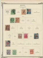 mexico stamps on 2 album page ref 13470