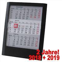 3 Monats Kalender 2018 + 2019 Tischkalender Tischaufsteller Aufsteller 374640