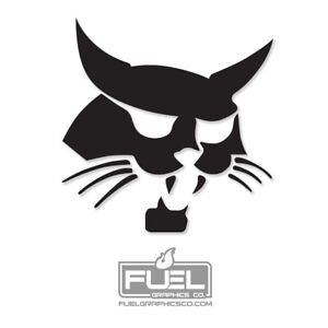 "Bobcat Logo Premium Vinyl Decal - 30"" x 30"" size - Black or White"