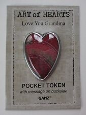 o Believe in Love hearts passionately WILD HEART POCKET TOKEN CHARM ganz