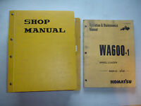 Komatsu wa100 1 thru wa500 1 wheel loader service handbook shop komatsu wa600 1 wheel loader factory service shop operation maintenance manual sciox Gallery