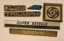 job lot Old car or truck badges Volvo, British Leyland, Triumph, Super Estelle