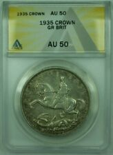 1935 Great Britain 1 Crown ANACS AU-50