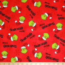 By 1/2 yard Merry Grinchmas Christmas Grinch Fabric Robert Kaufman Cotton New