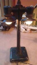 VINTAGE PRE WAR METAL S Gauge Double Street Lamp-WORKS