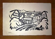 DIEGO RIVERA ORIGINAL -RURAL- INK ON PAPER DRAWING SIGNED