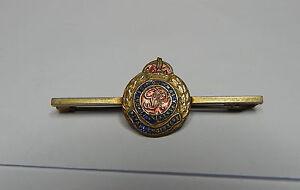 WW2 Royal Engineers Sweetheart Brooch Brass and Enamel