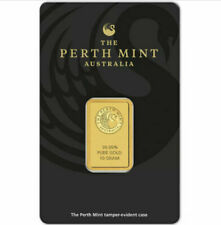 Perth Mint 10 Gram Gold Bar Sealed Tamper Proof Case-In Stock