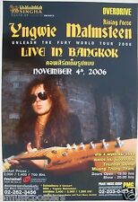 "YNGWIE MALMSTEEN ""UNLEASH THE FURY TOUR"" 2006 BANGKOK, THAILAND CONCERT POSTER"