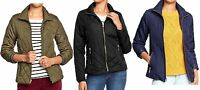 OLD NAVY Womens Quilted Barn Jacket Coat Quilt Black Olive Navy S M Small Medium