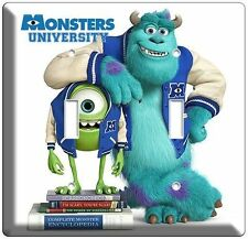 Monsters University Mike Sully Double Light Switch Cover Kids Bedroom Wall Art