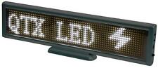 QTX 153.124UK Led Portable White 12 x 72 Usb Rechargeable Moving Message Display