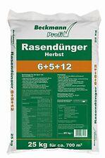 Beckmann Herbst Rasendünger für 700m²  Rasen Dünger Premium Profi 25 kg