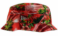 New Era Red Tropical Bucket Hat Cap Bob Island Red-Small