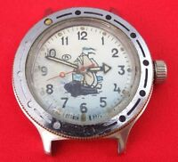 Vostok wrist watch Amphibia Soviet USSR wind up diver 200 m Rare Dial working