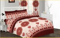 Luxury Flower Duvet Cover Set, Quilted Cover+Pillow Case & Fitted Sheet All Size
