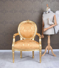 Chair Baroque Armrest Rococo Armchair Upholstered Antique