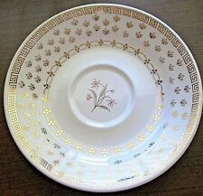 Vintage Knowles CLASSIC Saucer Gold Trim Design Pink Flower Excellent Condition