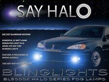 1999-2006 Pontiac Grand Am White Halo Angel Eye Fog Lamps Driving Lights Kit