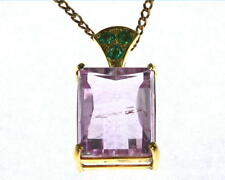 Kunzite Natural Genuine Gemstone Gold Pendent NFG909