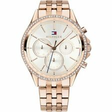 New Tommy Hilfiger Ladies Ari Carnation Rose Gold Chronograph Watch 1781978