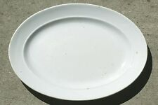 "J & J Edwards White English Ironstone Fenton 17"" Serving Platter VG 1861"