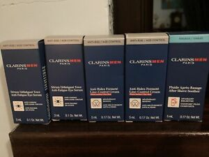 Clarins Men Super Moisture Lotion 5 Samples New In Box