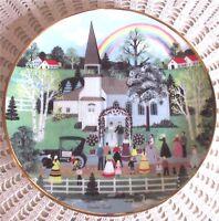 Franklin Mint RAINBOW WEDDING Collectors Plate American Folk Art Wooster Scott