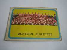 1963 TOPPS CFL FOOTBALL MONTREAL ALOUETTES TEAM CARD #49