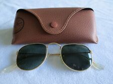 Ray Ban vintage Bausch and Lomb gold frame sunglasses. W0978 VWAW.