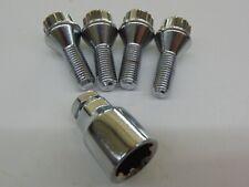 Felgenschlösser Radschrauben Gewinde M12x1,5 25 mm chrom Kegel Felgenschloß