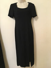 LIZ CLAIBORNE Night Cocktail Evening Fully Lined Long Black Gown DRESS Size