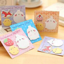 Rabbit Animal Sticky Notes Sticker Offce School Supplies Student Stationery TB